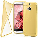 MoEx Funda [Transparente] Compatible con HTC One M8 | Ultrafina y Antideslizante - doré
