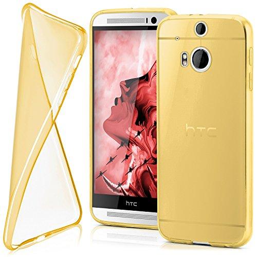 MoEx® Funda [Transparente] Compatible con HTC One M8 | Ultrafina y Antideslizante - doré