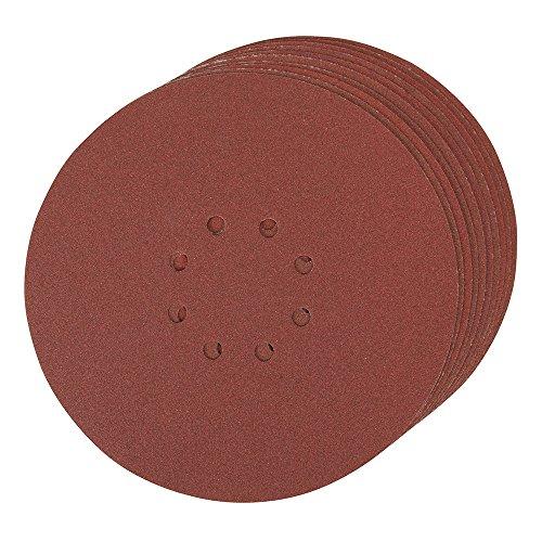 Silverline 273151 Lot de 10 Disques abrasifs perforés auto-agrippant 225mm Grain 120