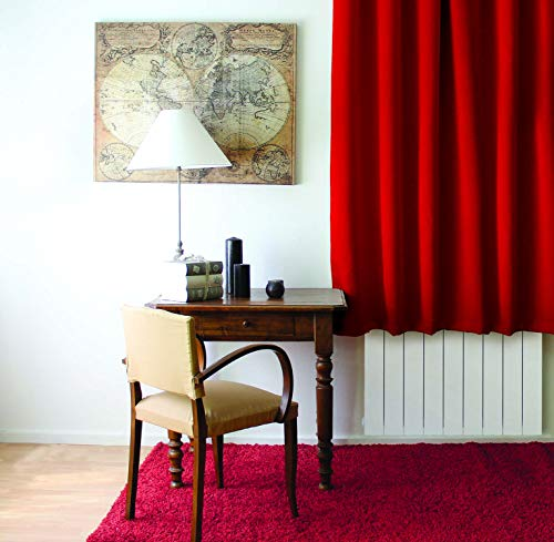 Enjoy Home Rideau Occultant avec 8 Oeillets Polyester Rouge 140x180 cm