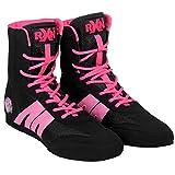 RXN Boxing Shoes (Black-Pink, 4)