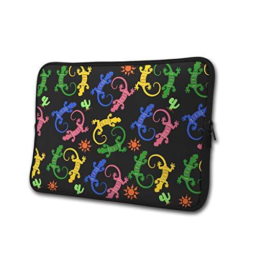 Lizards en Cactus 13-15 Inch Laptop/Tablet Sleeve Schokbestendig Neopreen Sleeve Bag voor Notebook Chromebook, Ultrabook, MacBook