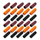 WJUAN 30 Piezas de Agarrador de Lapiz, 40 mm de Largo de 3 Colores Juego de Almohadillas de...