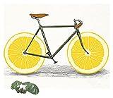 RHWXAX Moderno Minimalista Minimalista Bicicleta Decorativa Lona Pintura Impresión de la Pared Arte Náutico Coster Coster Cartel Fotos para Sala de Estar Decoración 24x24 Pulgadas Sin Marco