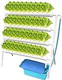 Vogvigo Kit de Cultivo hidropónico Sistema de Plantas hidropónicas para hortalizas, Lechuga, Flores, Frutas Pipa hidropónica de PVC para el hogar
