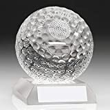 Womack Graphics Clear Glass Golf Ball Trophy - Longest Drive 3.75' with Presentation Case & with Free...