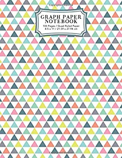 Graph Paper Notebook: Retro Triangles Squared Graphing Paper | Blank Quad Ruled (Student Life Notebooks)