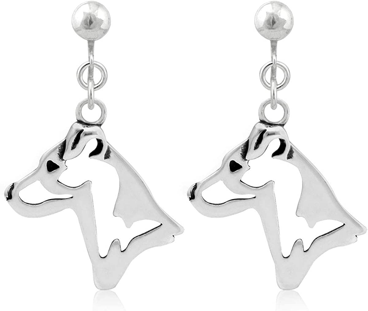 Discount New arrival is also underway Sterling Silver Parson Russell Terrier Smooth He Earrings Coat