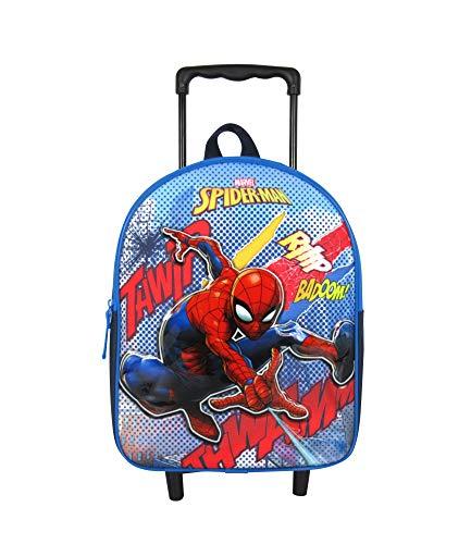 Sac A Dos A roulettes 31CM Bleu-Spiderman