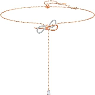 Swarovski Lifelong Bow Y Necklace, Mixed Plating