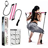Portable Pilates Bar Kit with Upgraded 30LB Thick Resistance Bands. Home Gym Resistance Bands For...