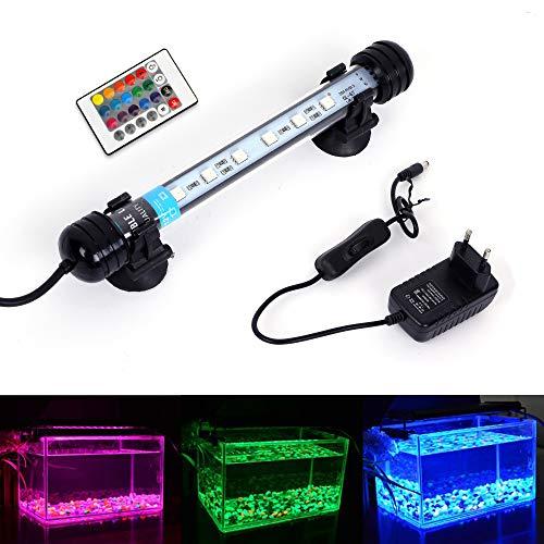 MLJ LED Aquarium Lighting Luce di Pesce Drago Illuminazione per Acquario Impermeabile (Deutschland Lagerhaus) (18cm, RGB)