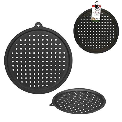 les colis noirs lcn Plaque a Pizza Perforee en Silicone 32cm - Cuisine Four Tarte - 414