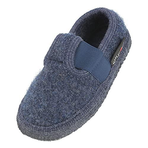 Haflinger Joschi, Pantofole Unisex-Bambini, Blu (Jeans 72), 29 EU