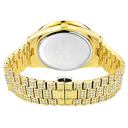 Not applicable Iced Out Watches Hip Hop Bling-ed Out Rapper's Luxury Full Diamond Watches Hip Hop Jewelry for Men Women
