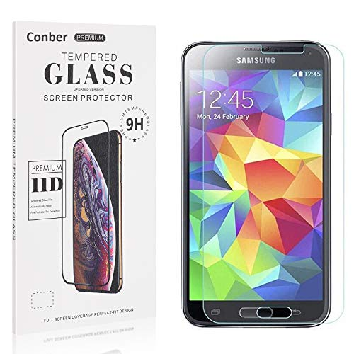 Conber [1 Stück] Displayschutzfolie kompatibel mit Samsung Galaxy S5 Mini, Panzerglas Schutzfolie für Samsung Galaxy S5 Mini [9H Härte][Hüllenfreundlich]