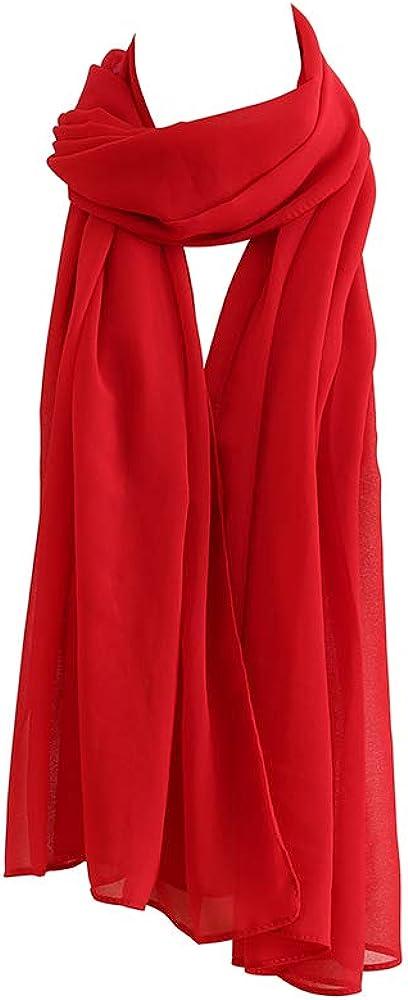 Women Fashion Scarf Light Weight Soft Wrap Shawl for All Season