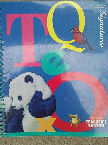 Harcourt, Signatures Read Aloud Anthology Kindergarten Level K/2 Spiral Teacher Edition, 1997 ISBN: 0153073454