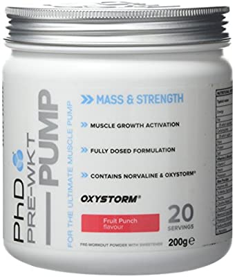 PhD Nutrition Pre-Workout Supplement Pump, Fruit Punch