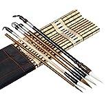 Diaod Umitive 5pcs / Set bambú Tradicional caligrafía Conjunto Escritura Arte Pintura Suministros