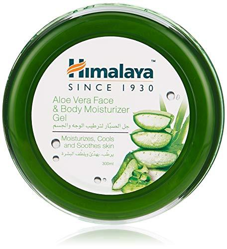 Himalaya Aloe Vera Face & Body Moisturizing Gel, with Aloe Vera, moisturizes, cools and soothes skin, 300 ml