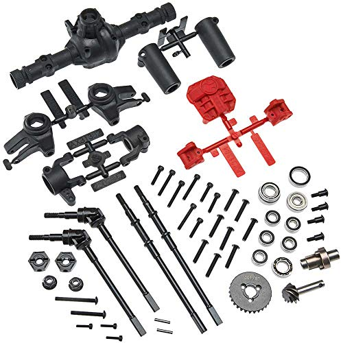 Axial AX31438 AR44 High-Pinion Front Axle or Rear Locked Axle Complete Parts Set (53-Pieces) - Fits SCX10 II: AXIC1438