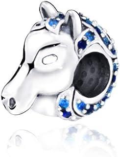 Charms Bead 100% Perline Nokk Charms Con Ciondoli A Forma Di Cavallo Per Bracciali Originali Da Donna Gioielli Fai Da Te C...