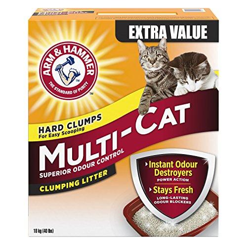 ARM & HAMMER Multi-Cat Litter, Superior Odour Control, 18-kg