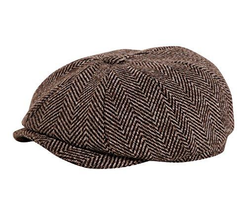 Chapeau Plate Casquette tweed marron de Gamble & Gunn - Marron - 59 cm