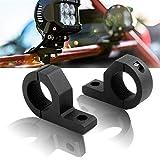 バイクステー 取り付けステー Samman ブラケット 穴あけ不要 取付簡単 フォグランプステー ライトバー 作業灯汎用 2個セット 一年保証