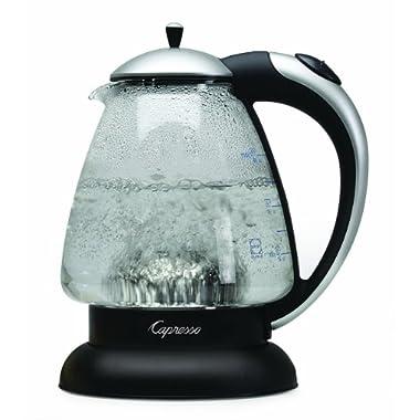 Capresso 259.04 H2O Plus Water Kettle, Matte Silver, 48-Ounce