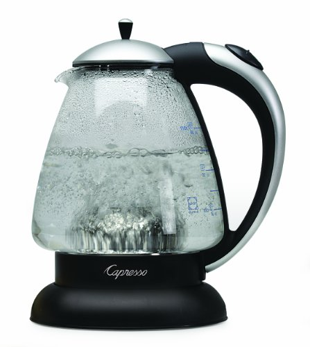 Capresso 259.04 H2O Plus Water Kettle, Matte Silver, 48-Ounce