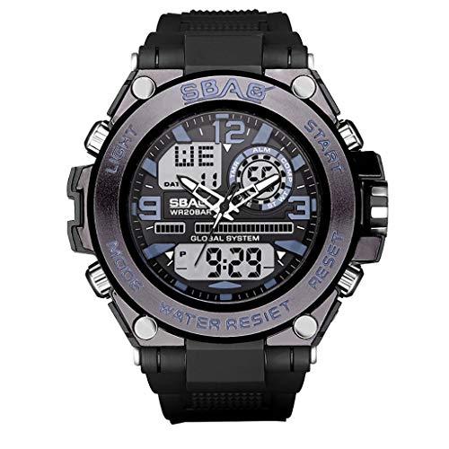 Orologio digitale uomo,SBAO TTMall Orologio Orologio sportivo Fitness Tracker Luminoso Quadrante professionale impermeabile Sportiva Contapassi con Orologio