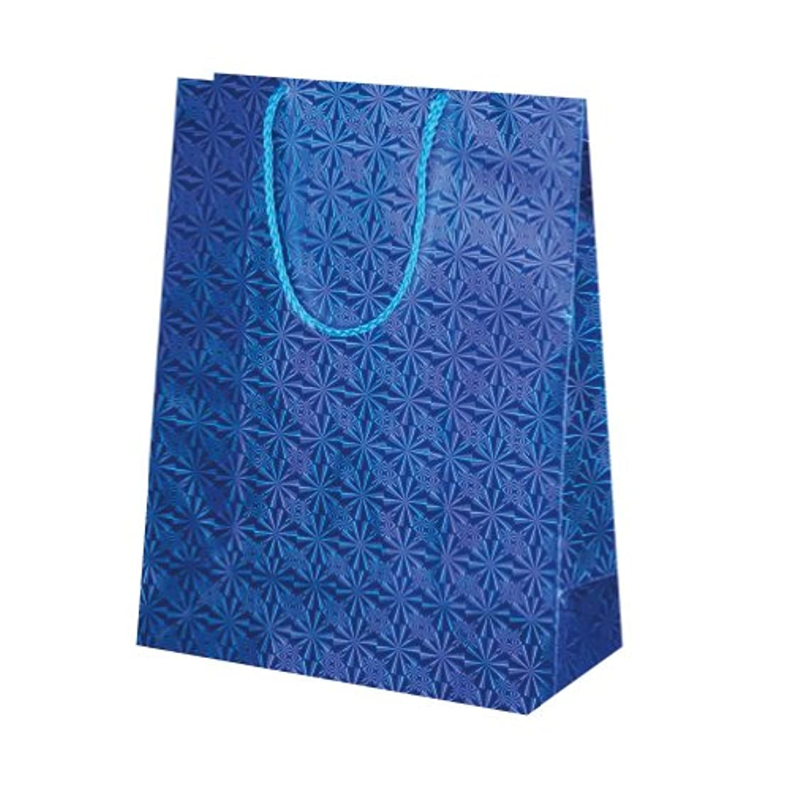 Susy Card 11277522 Gift Bag with Holographic Paper Pack of 10 Blue