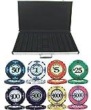 PS Premium Scroll Design Ceramic 10gm 1000 Chip Poker Set with Aluminum Case - Choose Chips