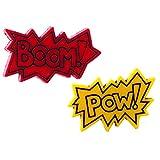 The Funky Barcode SUPERHERO BOOM POW STUD EARRINGS Gift Box Available