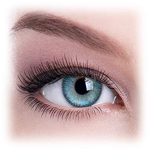 Farbige Kontaktlinsen, Ohne Stärke, Jahreslinsen, Natürlich Blau