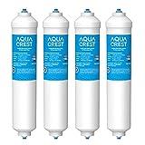 4X AQUACREST DA29-10105J NSF Certificado Filtro de Agua, Compatible con Samsung (solo externo) DA29-10105J DA99-02131B HAFEX/EXP DA2010CB 5231JA2010B Wpro USC100 WSF-100 (4)