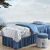 XKun Funda de cama de belleza de cuatro piezas de masaje de alta calidad, combinación de falda larga 70 x 185 cm
