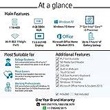 HP 15 7th Gen Intel Core i3 Processor 15.6-inch FHD Laptop (4GB/1TB HDD/Windows 10 Home/MS Office/Sparkling Black /2.04 kg), 15q-ds0007TU