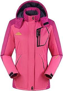 comprar comparacion Chaqueta para Hombre Abrigo Impermeable para Deportes Esquí Invierno Chaqueta de Nieve a Prueba Viento con Capucha