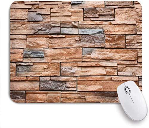 Mauspad braun grau backsteinmauer natürliche rote backsteine kundenspezifische kunst mousepad rutschfeste gummibasis für computer laptop schreibtisch schreibtischzubehör