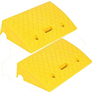 Rampe automobilistiche per sedie a rotelle Auto Rampe per marciapiede in plastica Leggera Portatile per vialetto Bacino carico Set di Kit di Rampe di soglia in plastica Resistente marciapiede
