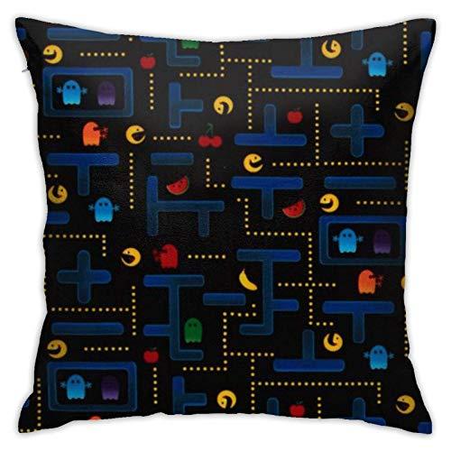 WH-CLA Couch Cushions Videojuego Cama Duradera Negra Sofá Regalo Suave Sofá De Oficina Fundas De Almohada Sofá Fundas De Cojín Fundas De Almohada con Cremallera Decoración del Hogar Coch