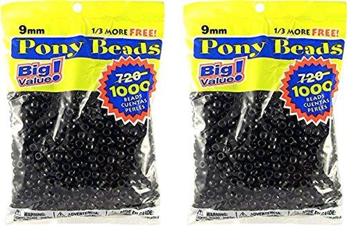 1000 black pony beads - 3