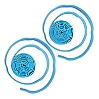スポーツヨガクラブのホームプレーヤー向けのエクササイズエキスパンドストラップ 再利用可能な強力なストレッチストラップ(blue)