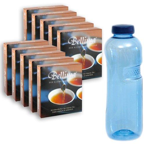 Sanquell GmbH Bellima Filterfächer 10 Pakete a 30 Stück | für klaren Tee | verhindert Hautbildung und Trübung beim Tee | aus natürlichen Materialien | in Deutschland produziert
