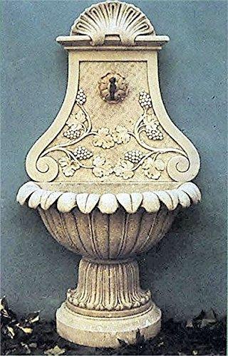 pompidu-living Wandbrunnen, Zierbrunnen, Springbrunnen Ranken Farbe Terracotta