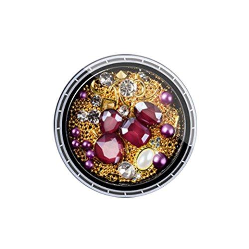 YUYOUG Mode DIY Bijoux 3D Strass Diamants colorés Nail Art Décoration (B)