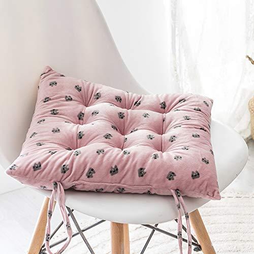 WJH Zachte Fluwelen Stoel Pads, Comfortabel Ademend Kussen, Dik Katoen Vullen Fluffy Stoel Cushioning Voor Office Tuin